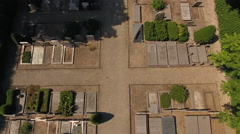 Cemetery aerial rising shot Stock Footage