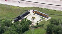 Old Locomotives In Lauritzen Gardens - stock footage