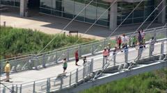 Bob Kerry Pedrestrian Bridge Stock Footage