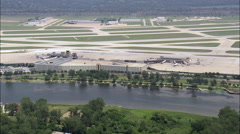 Landing At Omaha Airport Stock Footage