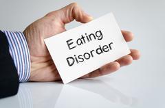 Eating disorder text concept Stock Photos