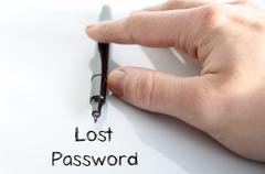 Lost password text concept Stock Photos