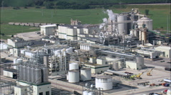 Industrial Plant On Missouri River Stock Footage