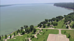Small Marina And Rv Site On Lewis And Clark Lake Stock Footage