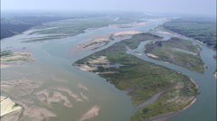 Confluence Of The Missouri And Niobrara Rivers Stock Footage