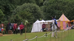Medieval skills at a  joust - stock footage