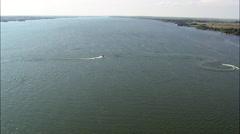 Inflatable Fun On Calamus Reservoir Stock Footage