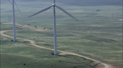 Windfarm aerial Stock Footage