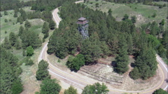 Scott Lookout Tower In Nebraska National Forest Stock Footage