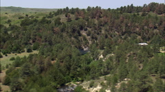 Cabins Above Snake River Stock Footage
