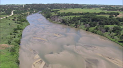 Weir On Niobrara River Stock Footage