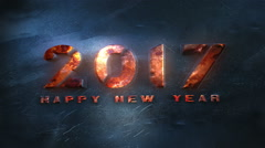 New Year 2017 Countdown Animation Stock Footage