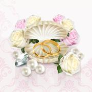 Wedding rings, vector illustration Stock Illustration