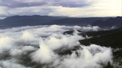 Above The Clouds Over Serra Da Graciosa Stock Footage