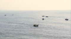 Small Fishing Boats Off Superagui Stock Footage