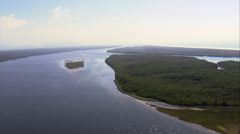 Estuary And Inlet In Parque Do Superagui Stock Footage