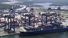 Embraport Container Terminal Stock Footage