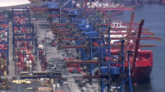 Port Of Santos Container Port Stock Footage