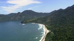 Praia De Castelhanos Stock Footage