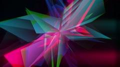 Colorful Dacing Polar Crystal Stock Footage