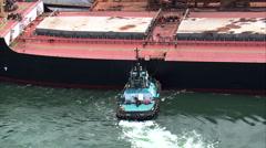 Two Bulk Carriers At Terminal Portuario Da Ilha Guaiba Stock Footage