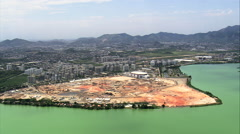 Olympic Village Under Construction Stock Footage
