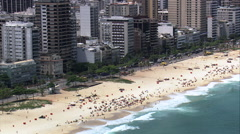 Ipanema aerial Stock Footage
