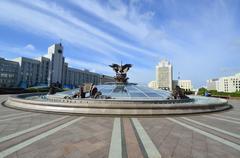 Minsk Independence Square landmarks Stock Photos