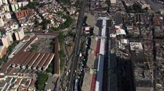 Sambadromo aerial Stock Footage
