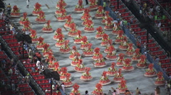 Rio Carnival Parade In The Sambadromo Stock Footage