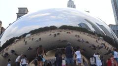 Cloud Gate Bean Sculpture Chicago  Stock Footage