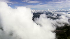 Through The Clouds In Rio De Janeiro State Stock Footage