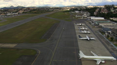 Landing At Pampulha Airport Stock Footage