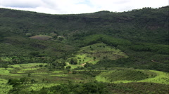 Descending Into Green Valley North Of Belo Horizonte Stock Footage