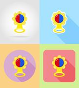 Baby toys and accessories flat icons vector illustration Stock Illustration