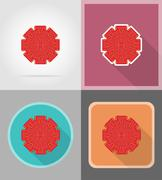 Red bow for gift flat icons vector illustration Stock Illustration