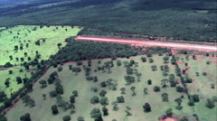 Landing On Small Airstrip, Minas Gerais State Stock Footage
