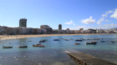 Playa de las Canteras, Las Palmas de Gran Canaria Stock Footage