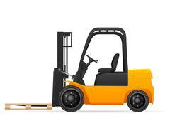 Forklift with pallet Stock Illustration