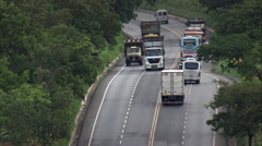 Route 135 Over Hills To Bela Borizonte Stock Footage