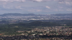 Belo Horizonte From The North Stock Footage