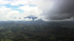 Clouds Building On The Mountains Near Serra Do Papagaio State Park Stock Footage