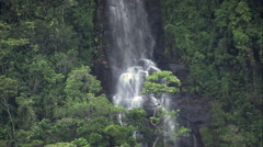 Waterfall In Serra Do Papagaio State Park Stock Footage