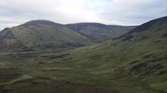 Valley Near Bynack Lodge Ruin Stock Footage