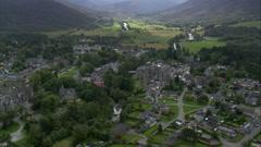 Braemar aerial Stock Footage