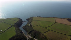 Coastline Near St Davids Stock Footage
