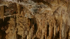 View Of Dargilan Cave With Geologic Formations Stalactites Stalagmites Stock Footage