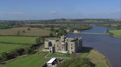 Carew Castle Stock Footage