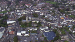 Axminster And St Mary's Church Stock Footage