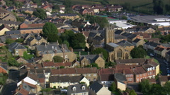 Ilminster aerial Stock Footage